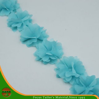 Blue Colors Satin Flowers for Decoration (HSXC-1703)