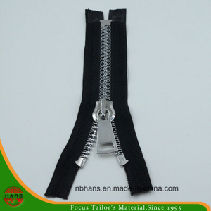 Fishbone Alloy Zipper with Silver Teeth