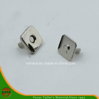 10mm Silver Square Magnet Button for Handbag (HAWM1650I0008)