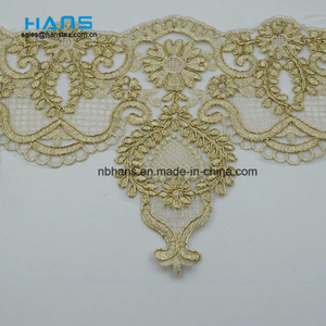 2018 New Design Embroidery Lace on Organza (HC-1837)