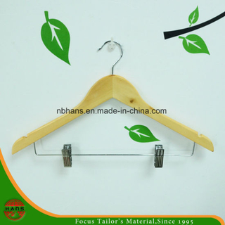 Wholesale of High Quality Natural Wooden Hangers (4312-5#)