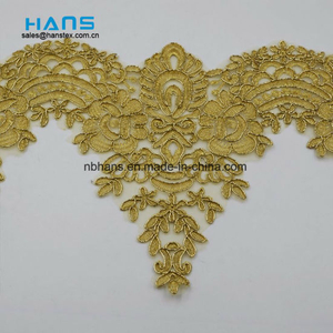 2018 New Design Embroidery Lace on Organza (HC-1842)