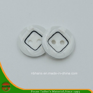 2 Holes New Design Polyester Shirt Button (S-118)