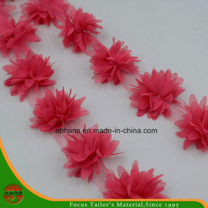 Red Colors Satin Flowers for Decoration (HSXC-1704)