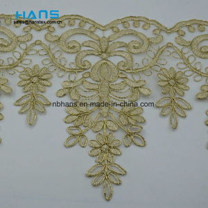 2018 New Design Embroidery Lace on Organza (HC-1836)