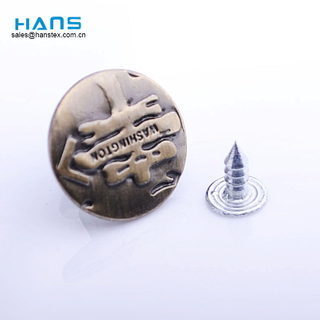 Hans Directly Sell Cool Copper Jeans Button