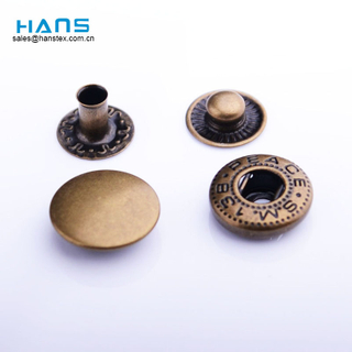 Hans Factory Price Custom Colored Brass Snap Buttons