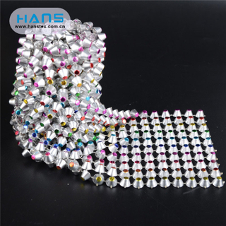 Hans Made in China Shine Women Sexy 888 Crystal Rhinestone Mesh