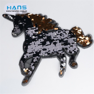 Hans New Fashion Shining Unicorn Sequin Patch