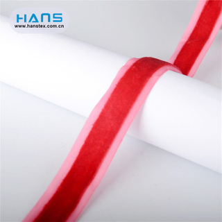 Hans Amazon Top Seller Garment Accessories Velvet Ribbon
