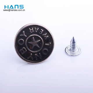 Hans New Custom New Design Iron Jeans Button