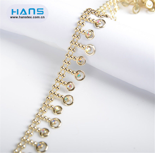Hans Made in China Pretty Rhinestone Chain Necklace