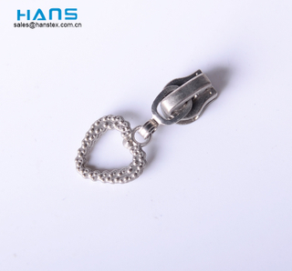 Hans Fashion Heart Shape Meta Zipper Pull