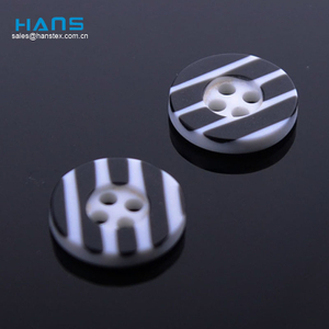 China Manufacturer Wholesale Print Logo Polyester Button