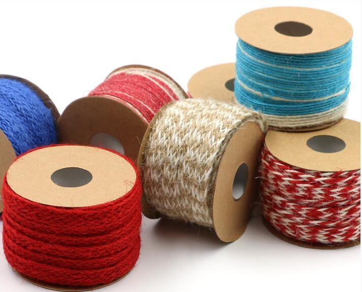 Hans China Supplier Solid Color Jute Ribbon