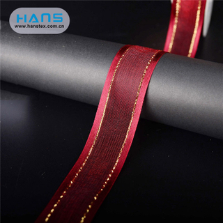 Hans Accept Custom Nice Design Recycled Sari Silk Ribbon