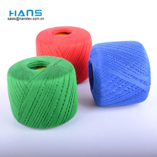 Hans Wholesale Custom Logo Color Cotton Yarn for Knitting