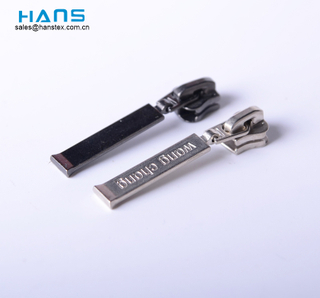 Hans Non Lock Custom Metal Zipper Pull