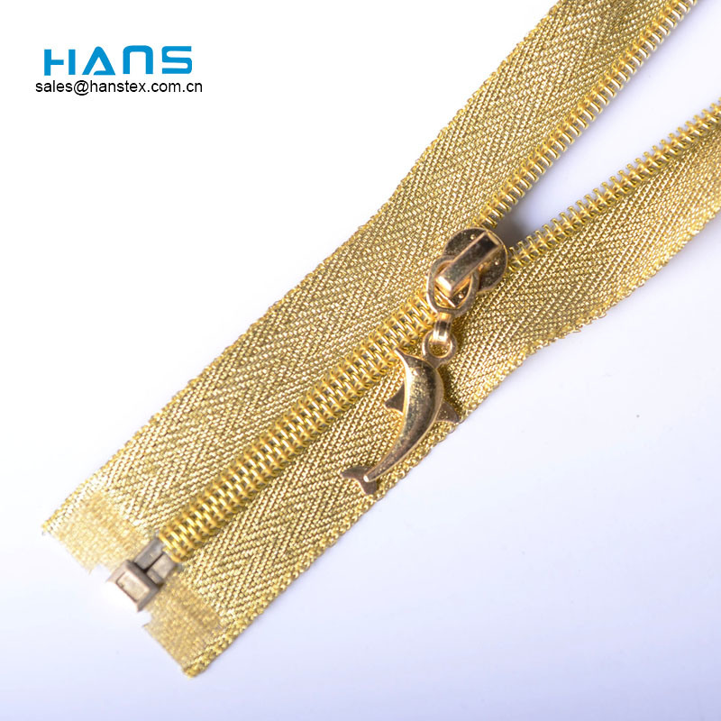 Hans Cheap Promotional Wholesale Multicolor Gold Zipper