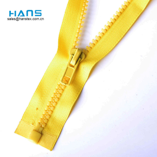 Hans Direct From China Factory Color Plastic Teeth Zipper