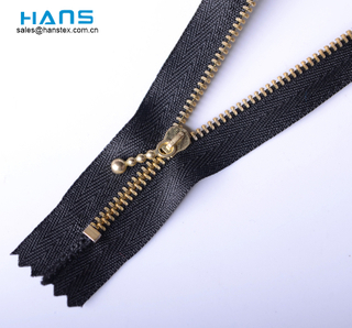 Hans Example of Standardized OEM Washable Metal Zipper