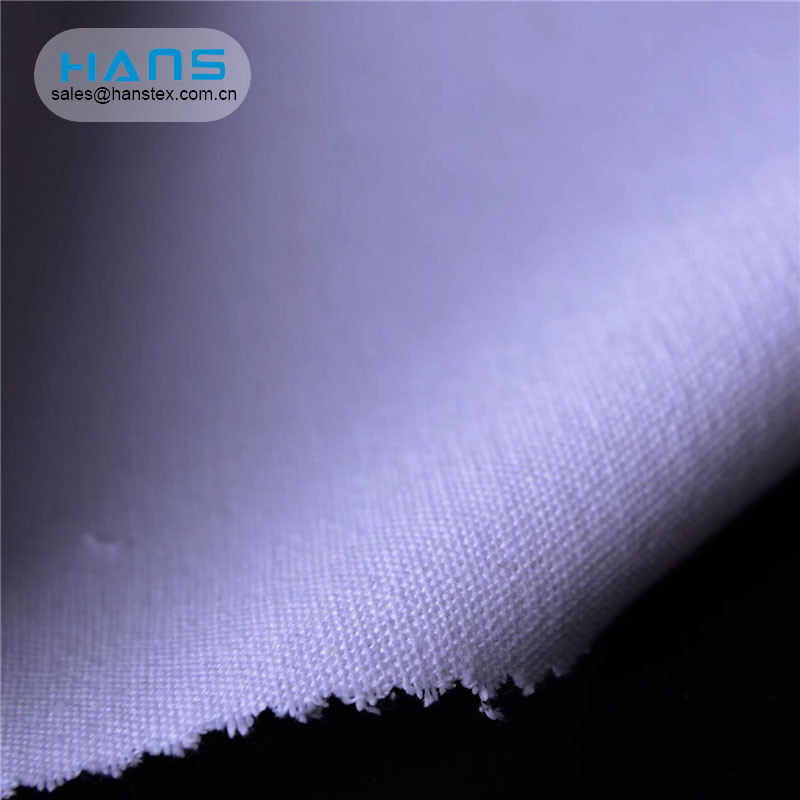 Hans Factory Prices Comfortable Waterproof Poly Canvas Fabric