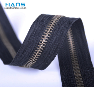 Hans Fast Delivery Washable Meter Zipper