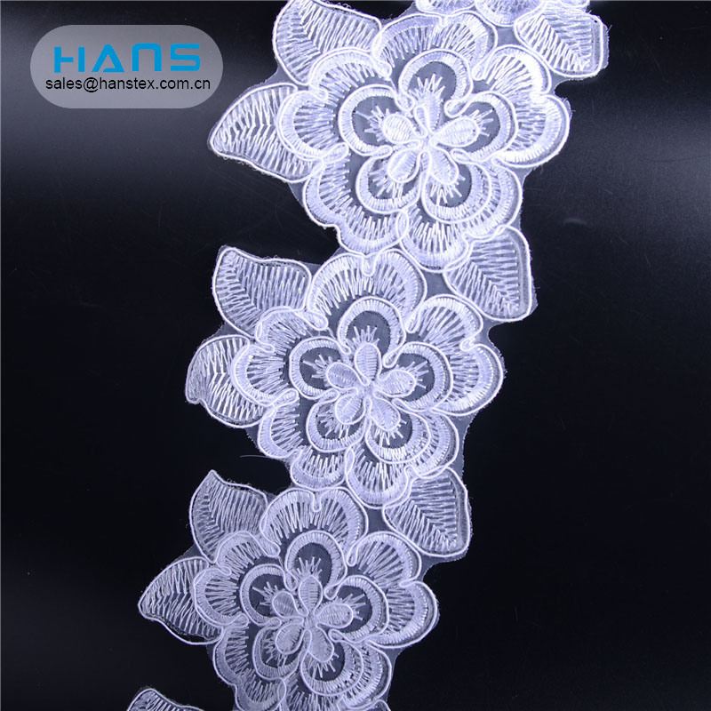 Hans High Quality Exquisite Rhinestone Lace