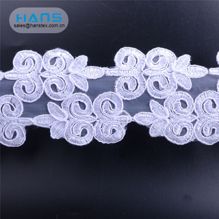 Hans High Quality OEM Promotional Embroidered Lace
