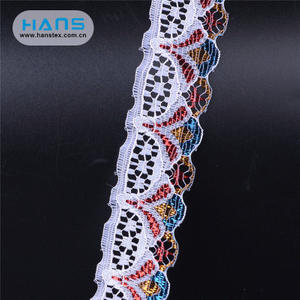 Hans Custom Manufactured Colorful Diamond Lace Fabric
