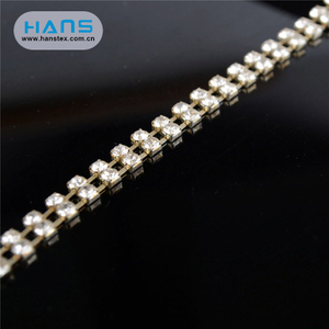 Hans High Quality OEM Shining Rhinestone Cup Chain