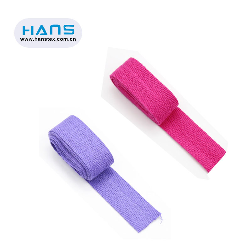 Hans Factory Manufacturer Solid Cotton Twill Tape