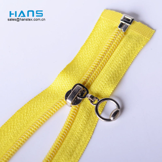 Hans Promotion Cheap Price Colorful Fancy Yellow Zipper