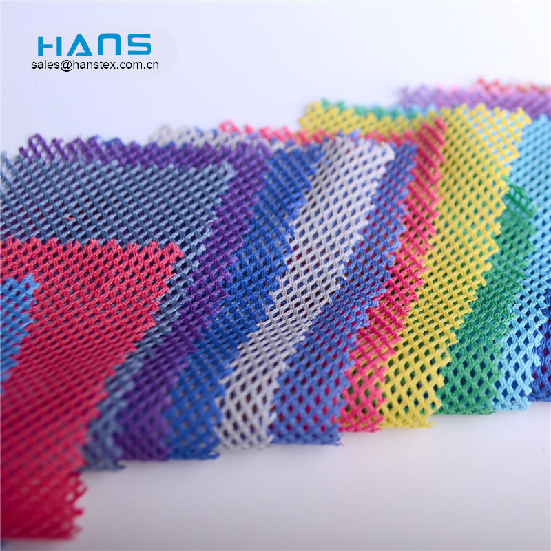 Hans Gold Supplier Color 3D Polyester Mesh Fabric