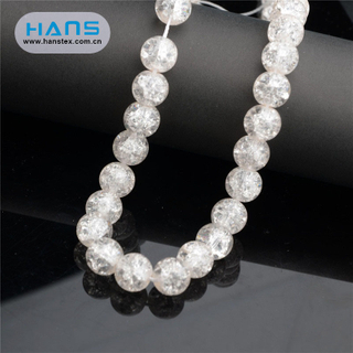 Hans Factory Hot Sales Illuminate Clothing Decoration Crystal Beads