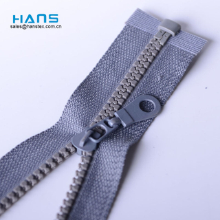 Hans Cheap Price Washable Big Teeth Plastic Zipper
