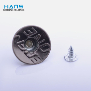 Hans Competitive Price with High Quality Clothing Custom Metal Jeans Button