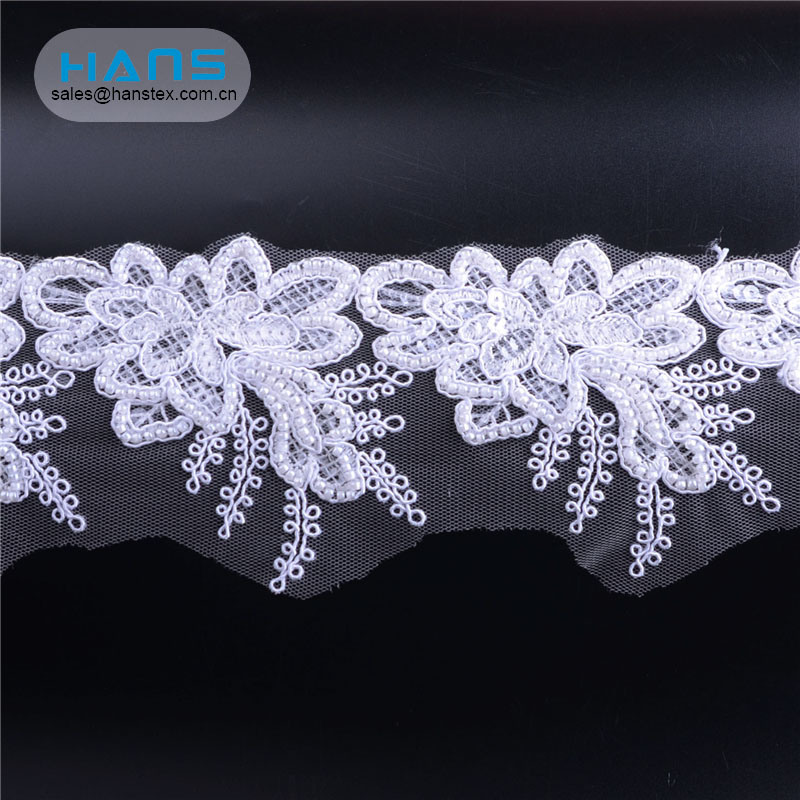 Hans Most Popular Super Selling New Arrival Beaded French Lace
