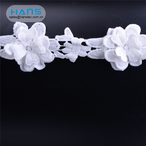 Hans Easy to Use Garment Accessories White Cotton Lace