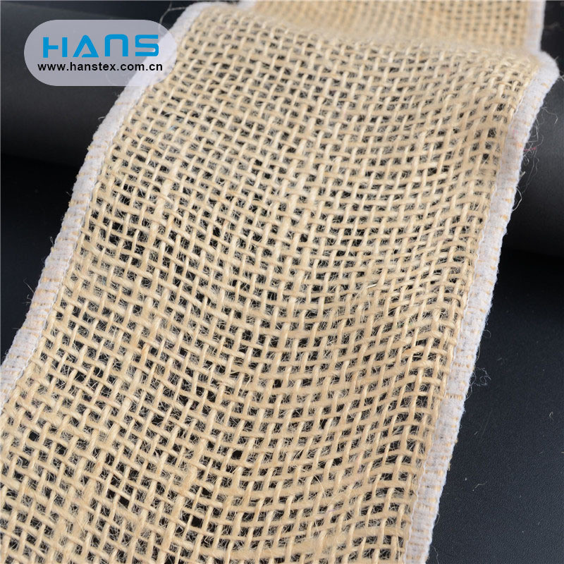 Hans China Supplier Stylish Jute Burlap Ribbon