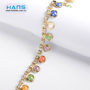 Hans Eco Custom Made Promotiona Wholesale Rhinestone Trim