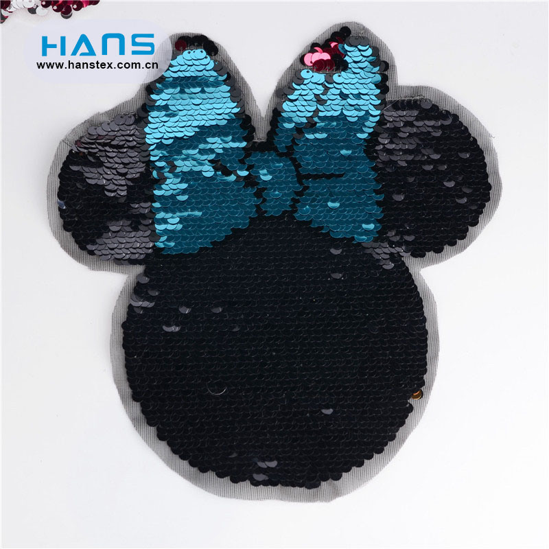 Hans High Quality Shining Big Sequin Patch
