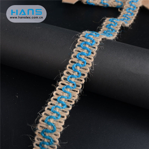 Hans China Supplier Nice Design Jute Burlap Ribbon