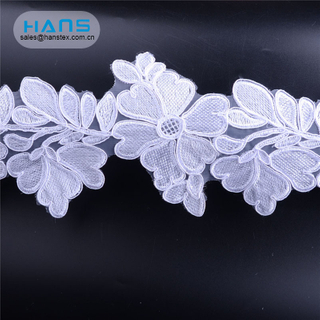 Hans Cheap Promotional Wholesale Garment Accessories Peach Lace Fabric