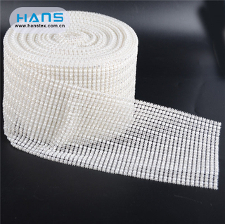 Hans High Quality OEM Shining Rhinestone Fabric