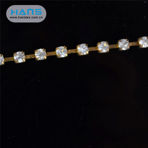 Hans Cheap Price Fashion 3mm Rhinestone Cup Chain