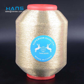 Hans China Manufacturer Wholesale Promotional Golden Thread Embroidery