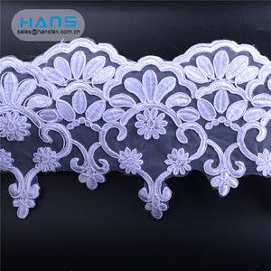 Hans Factory Direct Sale Colorful Wholesale Beaded Lace Fabric