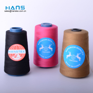 Hans Cheap Price Colorful Sewing Thread Spun Polyester